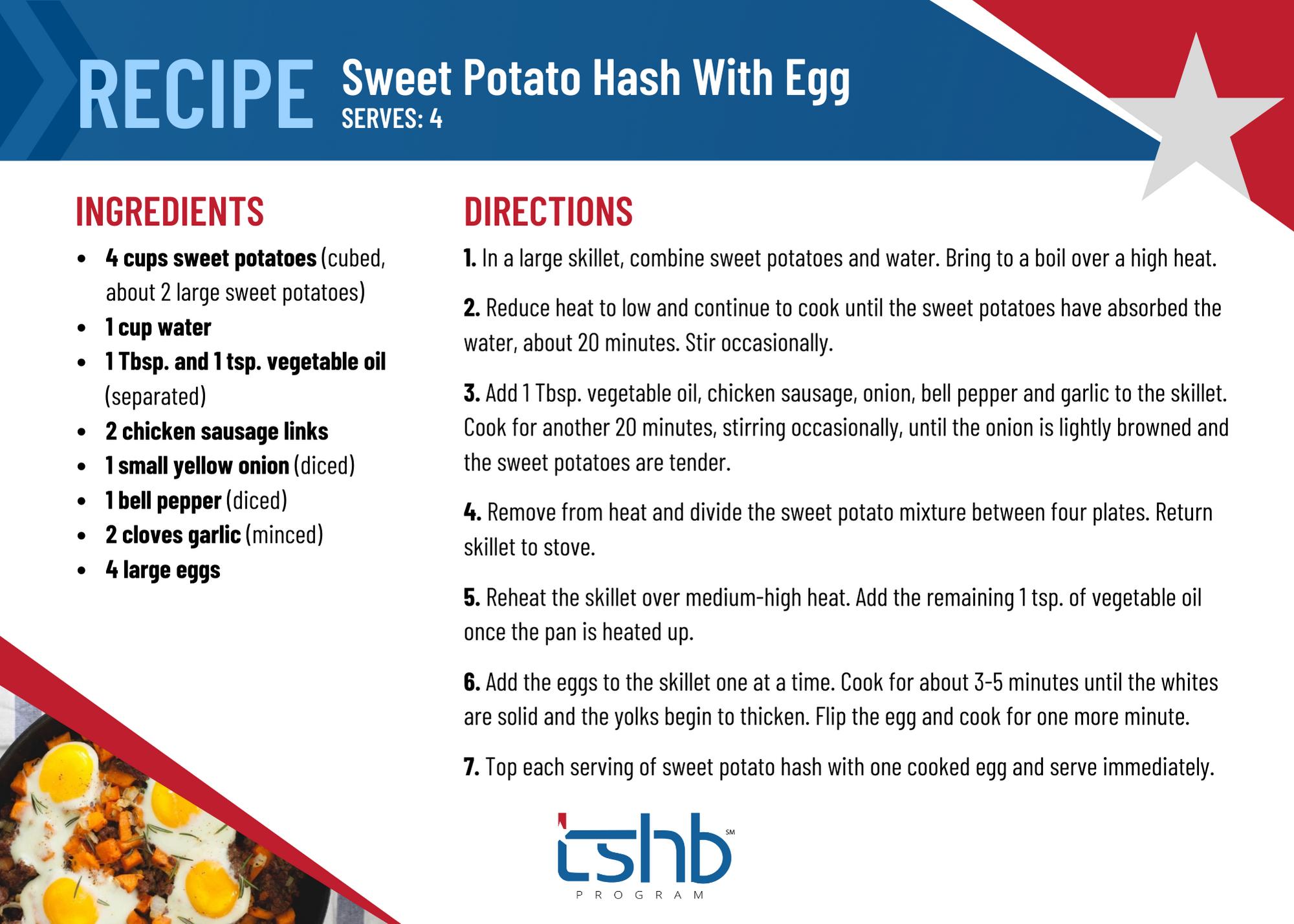 healthy recipe sweet potato eggs